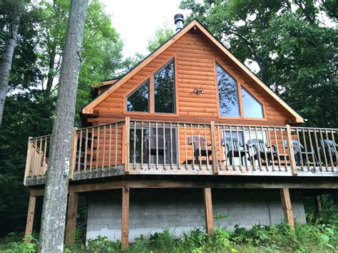 luxury log cabin at schroon lake w pontoon boat schroon