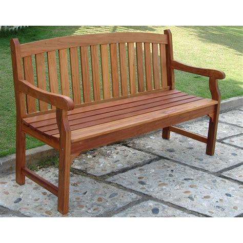 outdoor bench wood vifah 174 outdoor wood bench 218619 patio furniture at