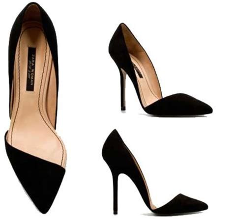 Zara Black Heels shoes asymmetrical zara black shoes high heels black