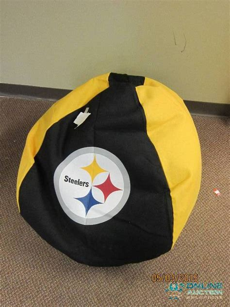 pittsburgh steelers bean bag chair outdoor items and more 2 in bagley minnesota by auctions