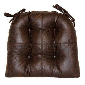 faux leather bench pad faux leather brown chair pad at home at home