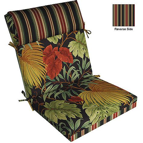 patio furniture cushions walmart pillow top chair cushion multipe patterns walmart