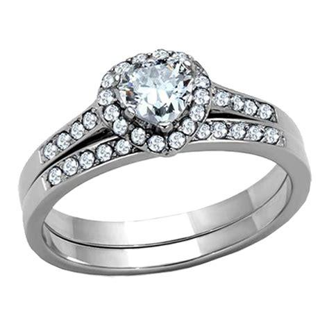 his hers 3 pcs wedding engagement ring set black 9 pcs