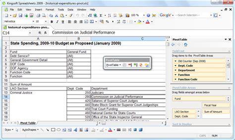 Alternatives To Spreadsheets by Kingsoft Spreadsheets Is An Alternative To Microsoft Excel