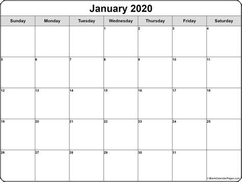 january calendar templates printable