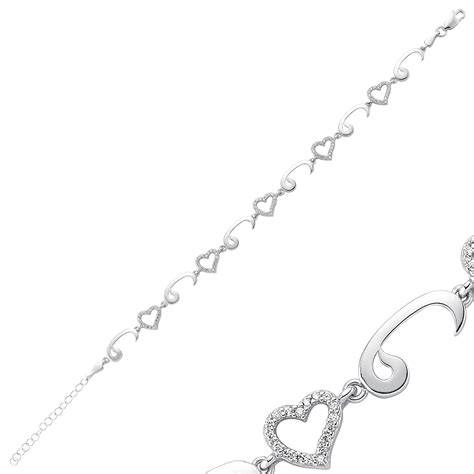 Waw and Heart Love Bracelet   Islamic Jewelry StoreIslamic Jewelry Store   ????????? ???????