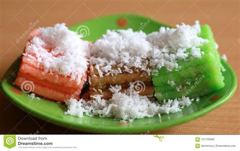 indonesian traditional cakes bolu steamed cake gethuk lindri stock photo image of traditional delicious