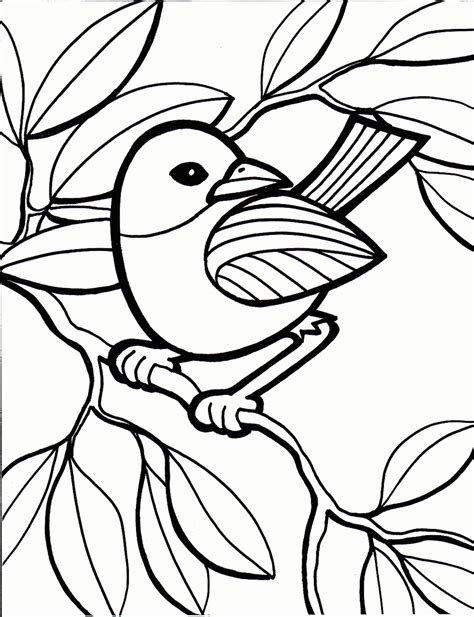 bird coloring pages  sun flower pages