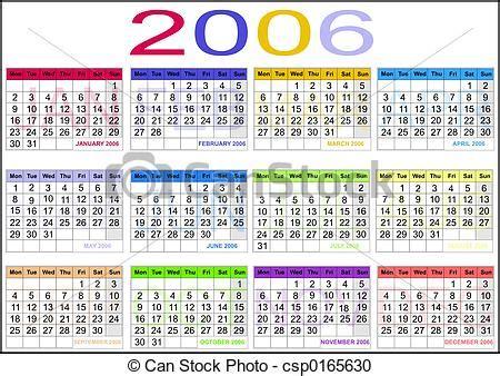 Calendario Abril 2006 Stock Fotografie Kalender 2006 Csp0165630 Suchen