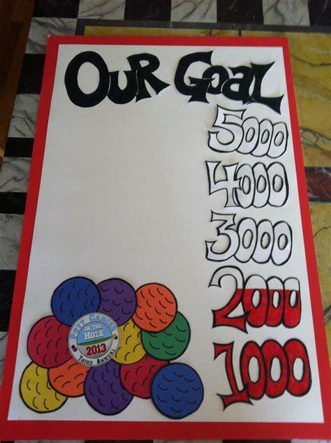 cookie sales goal poster using cookies instead of golf