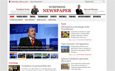theme wordpress newsletter 60 free yet premium quality wordpress magazine news themes