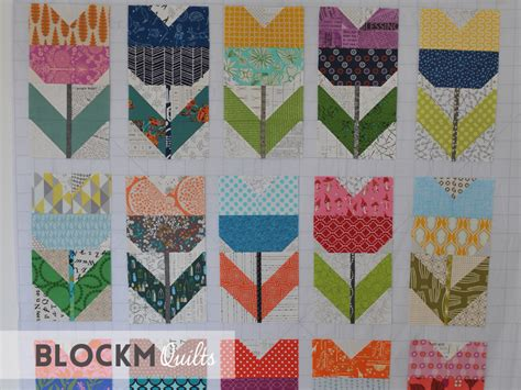 Tulip Quilt Pattern Block by Block M Quilts I Was Bee For January February