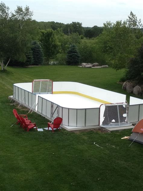 backyard hockey rink boards synthetic ice rink for backyard or basement doing it