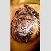 lion-roaring-tattoo-side-view