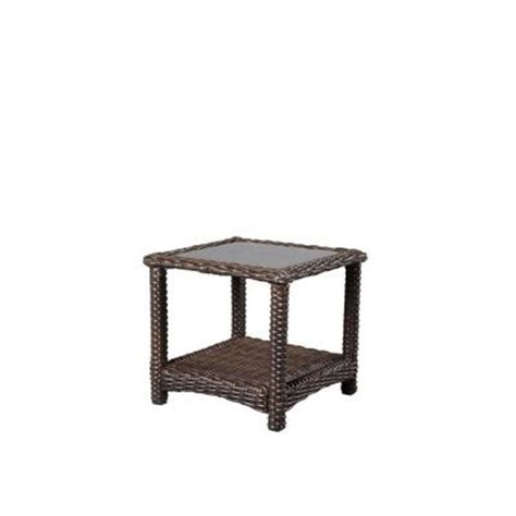 Home Depot Patio Accent Tables Hton Bay Mill Valley 22 In Square Patio Accent Table