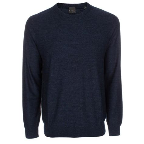 Sweater Navy Paul Smith S Navy Marl Merino Wool Sweater In Blue For
