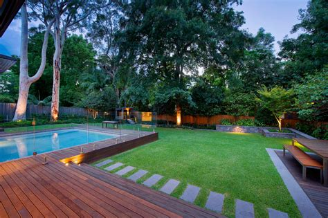 garden pool ideas semi inground pool landscape contemporary with backyard