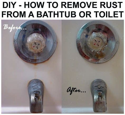 how to remove a bathtub video how to remove rust from bathtub toilet or sink easy diy