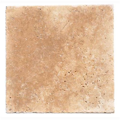 16x16 walnut travertine pavers tumbled