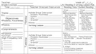 1st Grade Lesson Plan Template by Ms M S Map It Out Monday My Lesson Plans