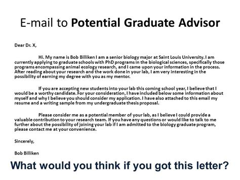 graduate thesis advisor application letter to phd program