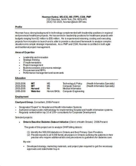 Computer Science Resume by Computer Science Resume Exle 9 Free Word Pdf