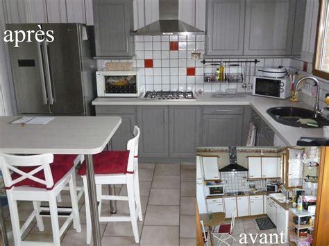 r駭ovation cuisine rustique avant apr鑚 rnovation cuisine rustique renover meuble cuisine