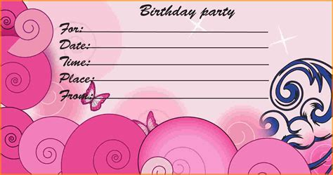 birthday invites template free printable birthday invitations templates