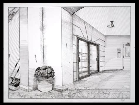 0 Point Perspective Drawing by Two Point Perspective Hallway By Aoiyoru On Deviantart