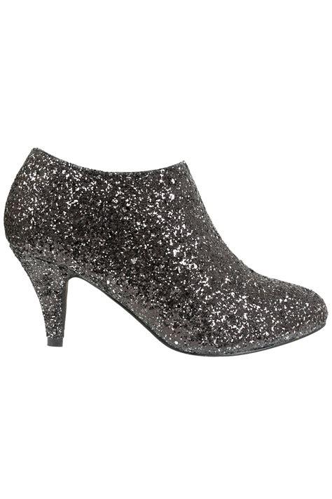 black silver glitter shoe boots in eee fit fit 4eee 5eee