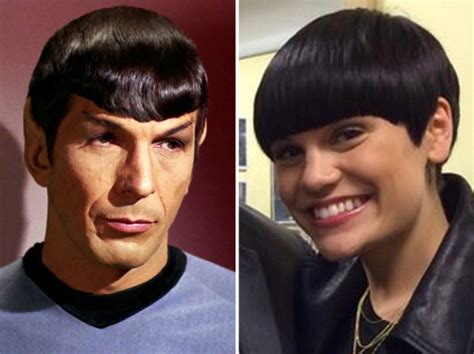 spock hairstyle jessie j channels star trek s spock with new hair pictures
