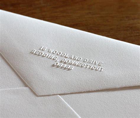 wedding invite return address return address embosser for letterpress wedding