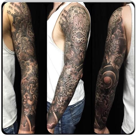 full arm sleeve tattoo designs 45 outstanding spiritual sleeve tattoos golfian
