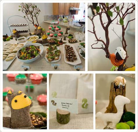woodland themed baby shower event design decor