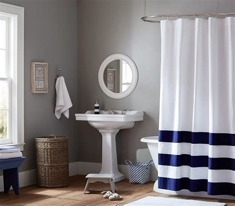 pottery barn kids bathroom ideas striped bottom shower curtain pottery barn kids