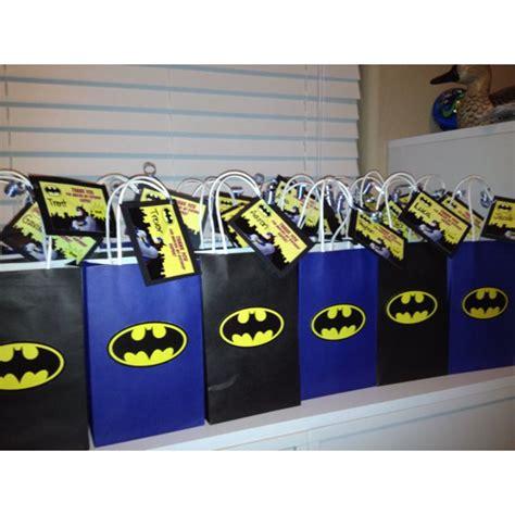 Goodie Bag Paper Bag Batman ideas for batman gift bags fiestas