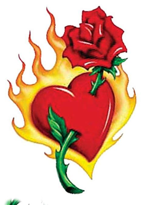 flaming rose tattoo large through flaming temporary by tattoogirlsrule