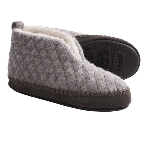 acorn bootie slippers acorn quilted bootie slippers for 5983t save 36