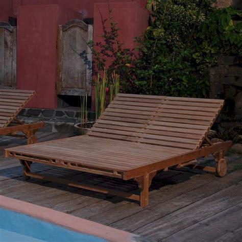 4 Sitzer Teak Gartenmöbel by Teak Bel Air Teak Patio Chaise Lounge