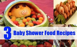 different baby shower food recipes top 3 baby shower
