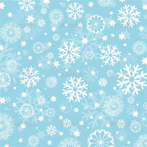 01bb23 Snowflake Patten Simple Design Blue snowflakes and background by kjpargeter graphicriver