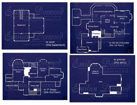 charmed house floor plan halliwell manor blueprints flickr photo sharing