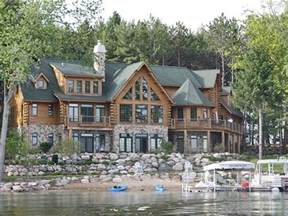 Log Cabin Homes Plans luxury michigan lake log homes for sale google search