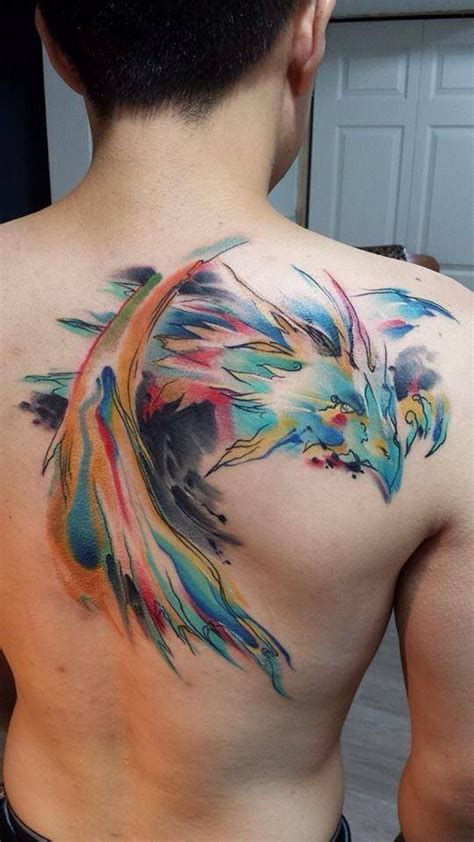 watercolor dragon tattoo 35 artistic watercolor tattoo designs for men