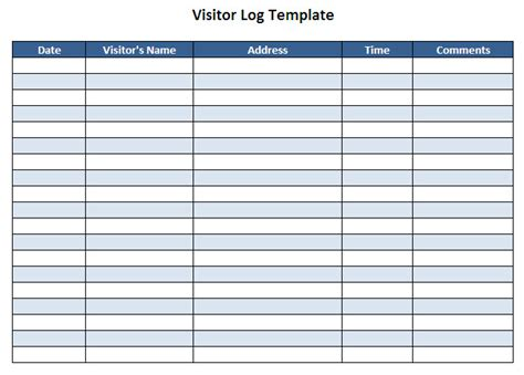 visitor book template visitor log template beneficialholdings info