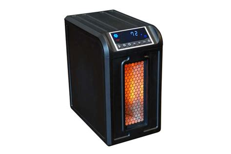 Heated Ls by Lifesmart Low Profile Infrared Portable Heater Black Ls 3eco Vminnovations