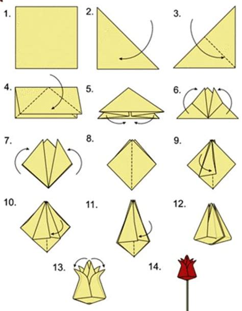 Tulip Origami - how to diy origami tulip