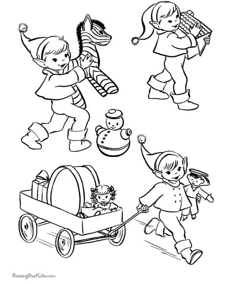 coloring pages elves santa free coloring pages of santa elf