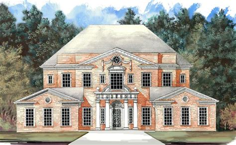colonial greek revival house plans colonial greek revival plantation house plan 72158