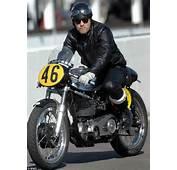 Ewan McGregor Rides Vintage Motorcycle At Goodwood Revival